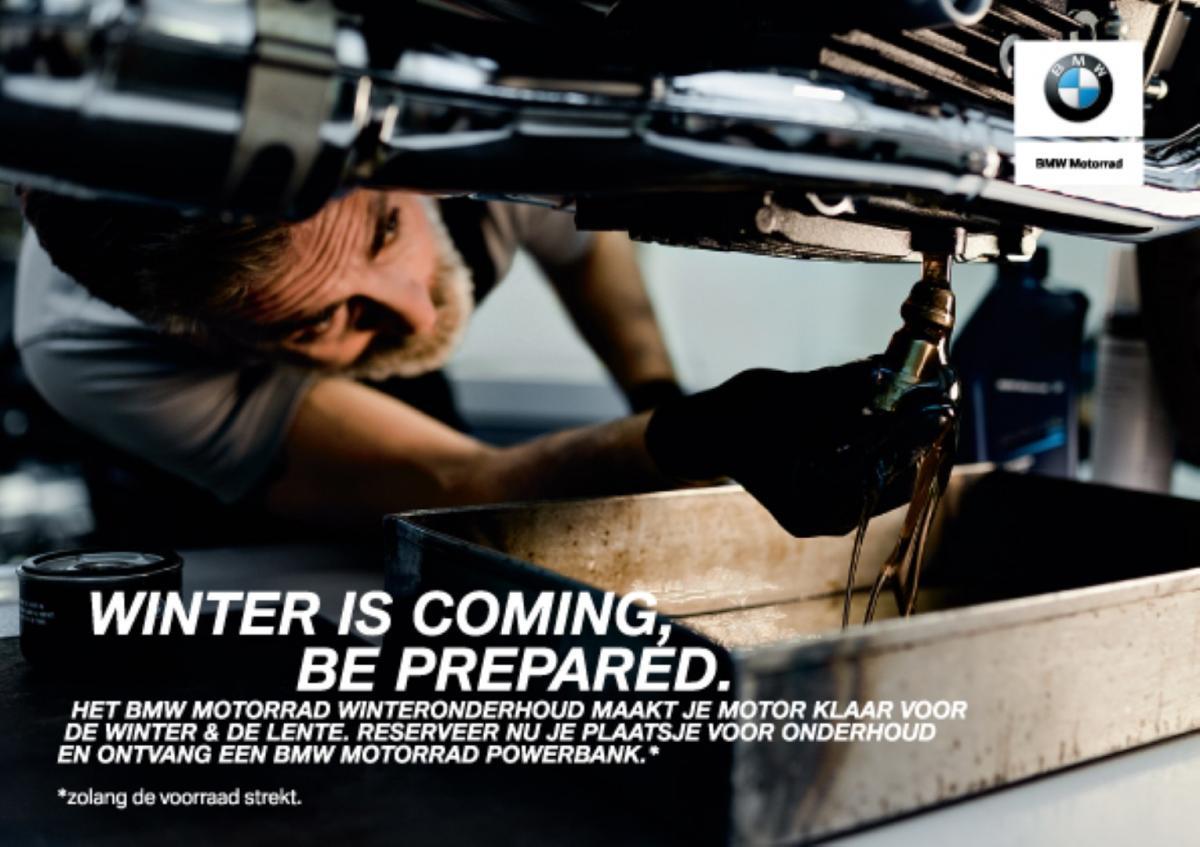 BMW Motorrad Winteronderhoud Powerbank